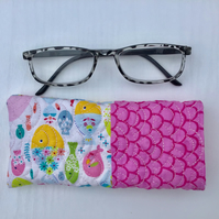 Pink Fish Glasses Case