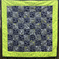 "Knights and Dragons Cotbed Quilt - 41""x 41"" (104cm x 104cm) approx"