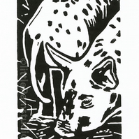 SALE 50% OFF! Tamworth Piglets - Original Hand Pulled Linocut Print