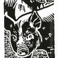 SALE 50% OFF! Berkshire Piglets - Original Hand Pulled Linocut Print