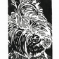 SALE 50% OFF! Yorkshire Terrier Black Dog - Original Hand Pulled Linocut Print