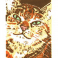 SALE 50% OFF! Tabby Cat - Original Limited Edition Linocut Reduction Print