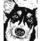 SALE 50% 0FF! Corgi Dog - Original hand pulled Linocut Print