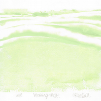 Abstract Art - Morning Mist - Original OOAK Monoprint