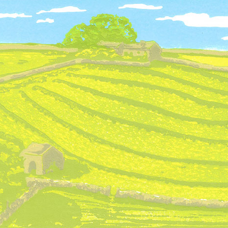 Summer Dales - Original Limited Edition Linocut Print.