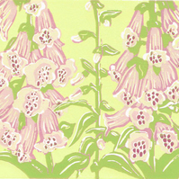 Foxgloves - Limited edition Linocut Print
