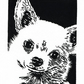 SALE 50% OFF! Chihuahua Dog - Original linocut print