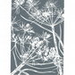 SALE 30% OFF! Cow Parsley grey - Handcut Linocut Print