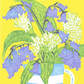 Bluebells & Ramsons - Limited edition Linocut Print