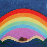 Rainbow Art Print, Spiritual Gift, Gift for Her, Rainbow Picture, Gift for Him