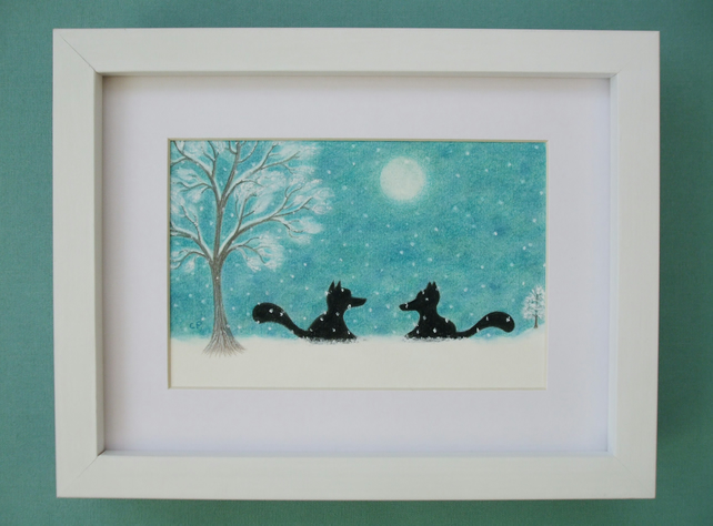 Fox Picture: Fox Art, Fox Snow Picture, Fox Gift, Fox Picture Framed, Snow Art