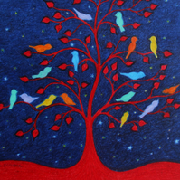 Bird Card: Bird Tree Card, Bird Art Card, Spiritual Bird Card, Tree of Life Card