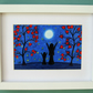 Mother Daughter Print, Framed Moon Art, Daughter Gift, Mother Child Moon Stars