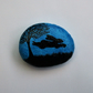 Hare Painting on Pebble, Hare Gift, Rabbit Art, Painted Stone, Bunny Art, Kids