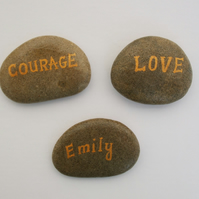 Customised Painting on Stone, Hand Painted Personalised Pebble, Unique Gift, Art
