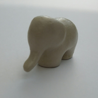 Elephant Sculpture, Elephant Figurine, Clay Sculpture, Elephant Art, Miniature