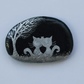 Cat Stone Painting, Valentines Gift, Romantic Cats, Hand Painted Valentines Rock