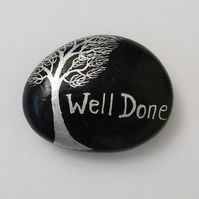 Well Done Gift, Painted Rock, Congratulations Gift, Stone Art, Exam Pass Gift