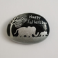 Fathers Day Gift, Elephants Stone Painting, Unique Fathers Day Gift Elephant Art