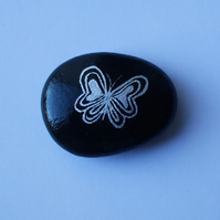 Butterfly Magnet, Painted Rock, Hand Painted Butterfly Gift, Stone Art, Pebble