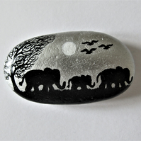 Painted Rock Elephants, New Parents Gift, Baby Animal, Mothers Day, Stone Art