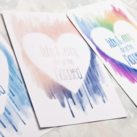 Watercolour Heart Wedding Invitation - Invite Suite sample