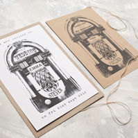 Retro Juke Box - Wedding Invitation Full Suite Sample