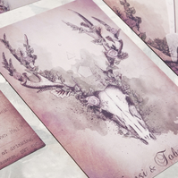 30 x Woodland Stag Wedding Invitations