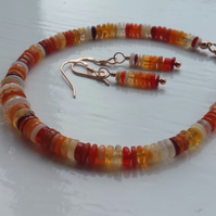 Shades Of Fire Opal Bracelet and Earring Set 2