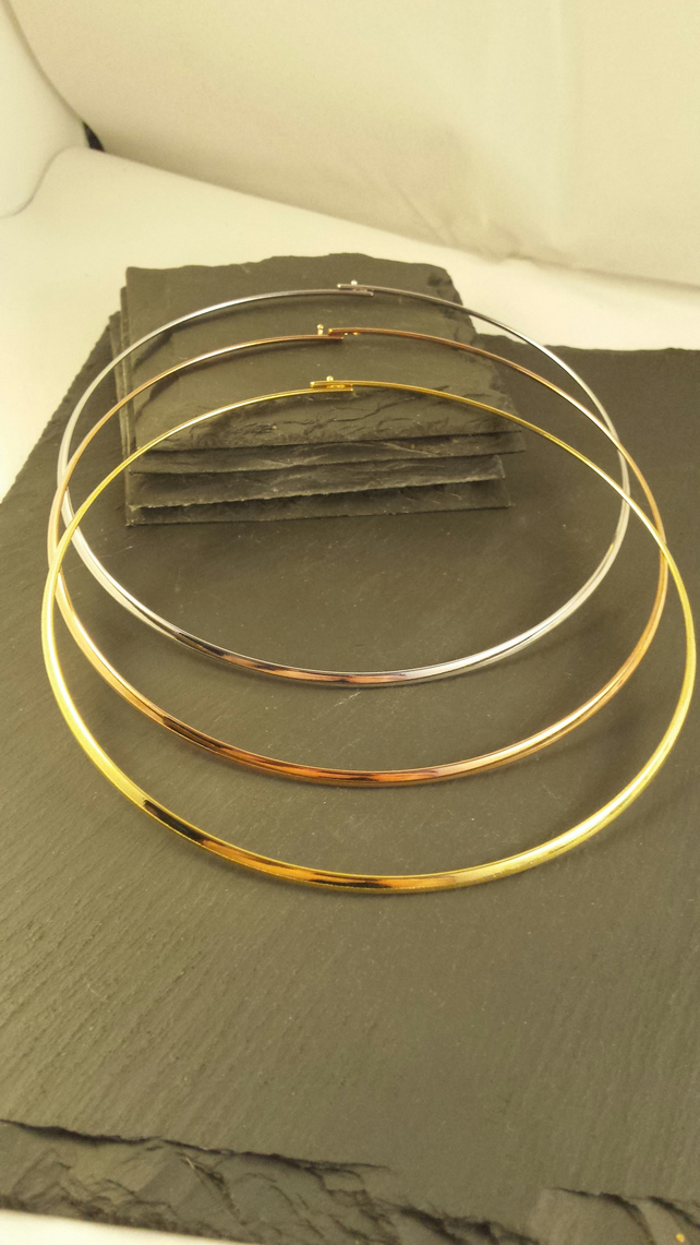 Rose Gold Plated Brass Collar