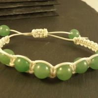 Aventurine Macrame adjustable bracelet