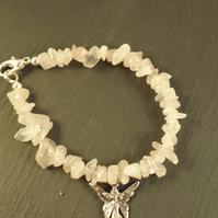 Rose Quartz and Guardian Angel Bracelet