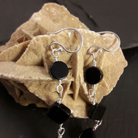 Black Agate 3 Part Earrings