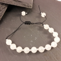 Cloudy Quartz Adjustable Bracelet