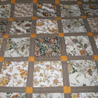 Double patchwork bedspread or throw