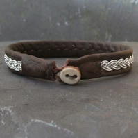 Sami Bracelet- on Brown Leather