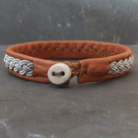Sami Bracelet- on Tan Leather