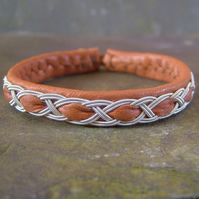 Sami Bracelet- Mens Size Traditional Tan Leather