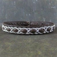 Sami Bracelet- larger size for Men on Brown Leather