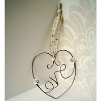 Love heart hanging