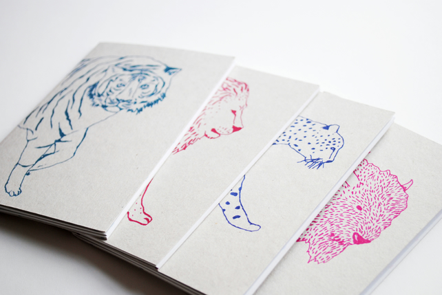 Set of Four A6 Animal Notebooks