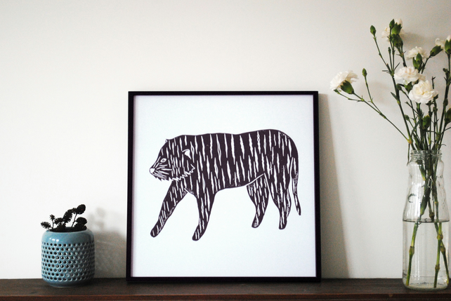 'Tiger' Digital Print