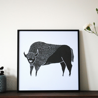 'Bison' Digital Print