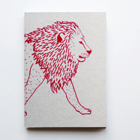 A6 Notebook 'Lion'