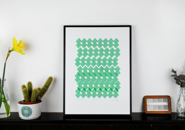 'Repeat' Handmade Screenprint