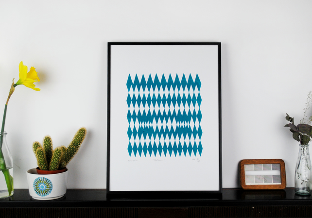 'Harlequin' Handmade Screenprint