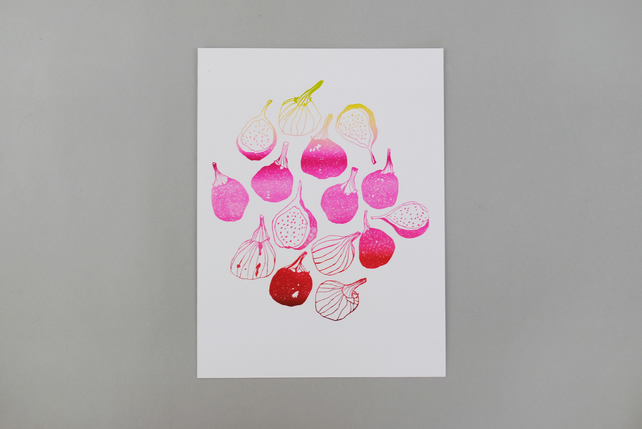LimitedEdition Letterpress Print 'Figs'