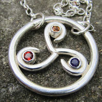 Silver Jewelled Triskelion