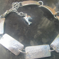 Sterling Silver Reticulated Bracelet