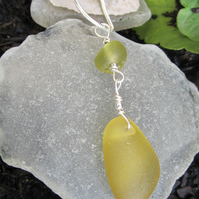 Sea Glass and Sterling Silver Necklace